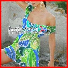 2012 Newest Viscose Printed For Lady Dress Fabrics