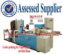 Automatic folding napkin paper tissue printing machine