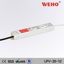 Waterproof IP67 power supply 12V constant voltage AC DC 20W 12 volt led driver