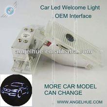 Hotsale Auto Emblems Led logo/ car emblem light logo/ led auto emblem with CE drill pen car door projector light