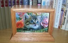 handmade pet solid carving wooden cremation casket box