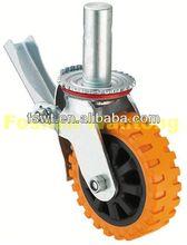 Anti-slip Fixed Polyurethane push cart caster wheels