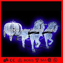 esterna xmas cavallo acrilico con zucca per la vendita