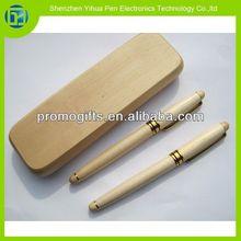 Novelty 2014 wood pen set,wooden pen holder,wooden pen set with wooden box