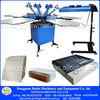 Floor type manual 6 color screen printer multicolor t-shirt press screen printing machine with some printingsupplies