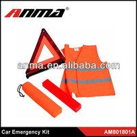 Amercia car emergency kit/ reflective vest/ child and woman safety vest kit