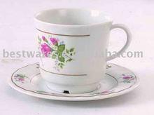 Wholesale beautiful printing melamine cup saucer set
