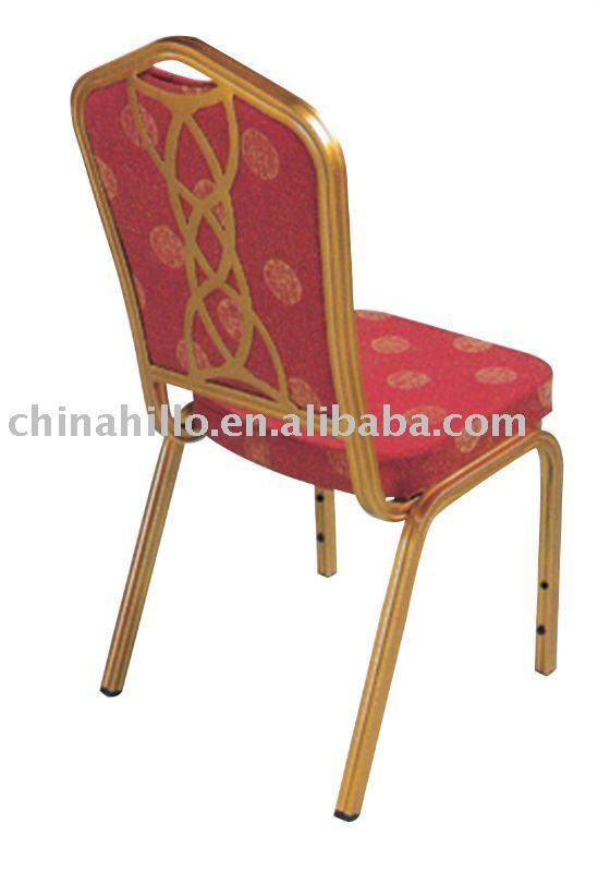 aluminum red wedding chair XL-H0622