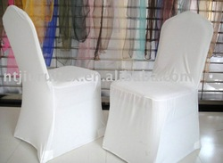 white poly spandex chair cover