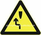 metal directional triangle sign