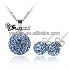 Fashion Sterling Silver Crystal Jewelry Sets For Wedding