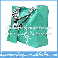 Reusable Green microfiber custom tote shopping bags