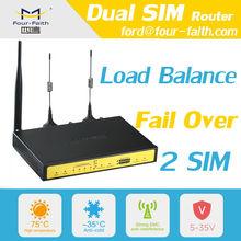 F3B32 3G Industrial Wireless Dual SIM Card Load Balance 4 Lan ethernet port router wifi dual sim ROUTER