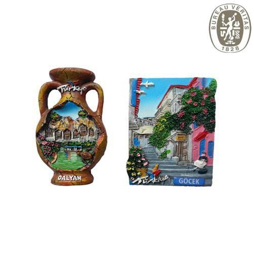 2014 Famous Scenery Theme Custom Resin Fridge Magnet