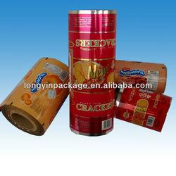custom printing food grade plastic film roll/laminated food grade plastic film/laminated food grade plastic film