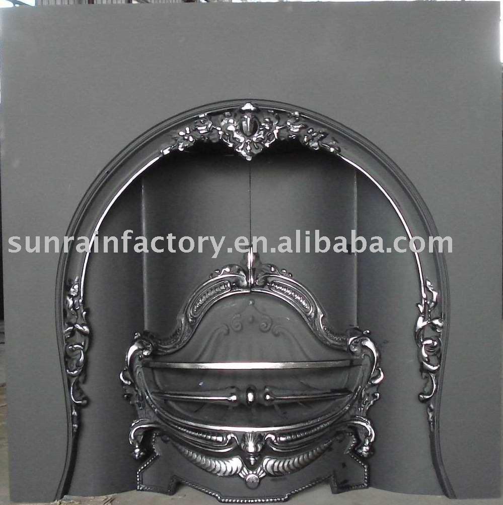 Europa cast di ferro di metallo coperta a legna inserto camini/indoor camino stufa di metallo