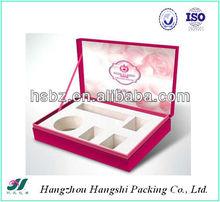 Elegant Design EVA/Foam Insert cosmetic display box template cardboard displaybox