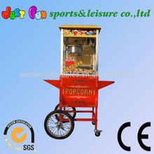 2014 hot sale floor model popcorn maker, popcorn machine with carts