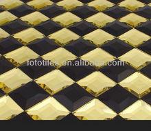 Black&Golden Glass Mosaic ,Foto Tile