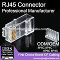 Pinos 10 rj45 conector, conector diferente rj45 para cat6 cabo, 10 pinos conector cat7 rj45 plug