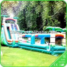Palm Tree Hot Sale Inflatable Slide Pool, Wet Slide for Summer Vocation