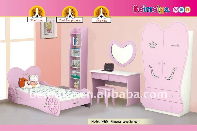 kids princess love bedroom sets children funrniture 969