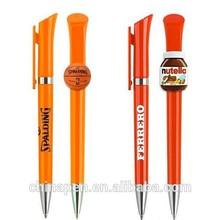 2015 hottest custom clip pen, plastic pen, ballpoint pen from Bubugao pen making