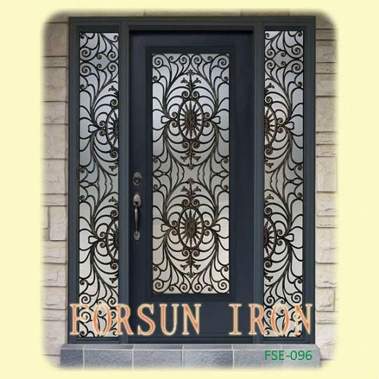 Main fer forg porte d 39 entr e fse 096 portes id du produit for Porte en fer pour garage
