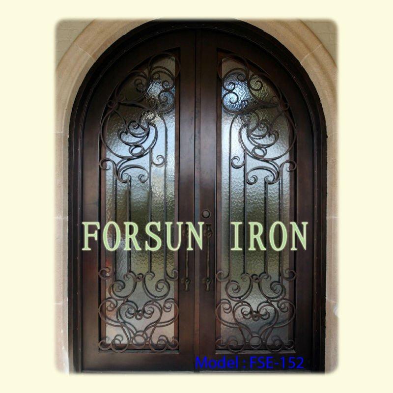 Porte d 39 entr e en fer forg fse 152 portes id du produit for Porte fer exterieur