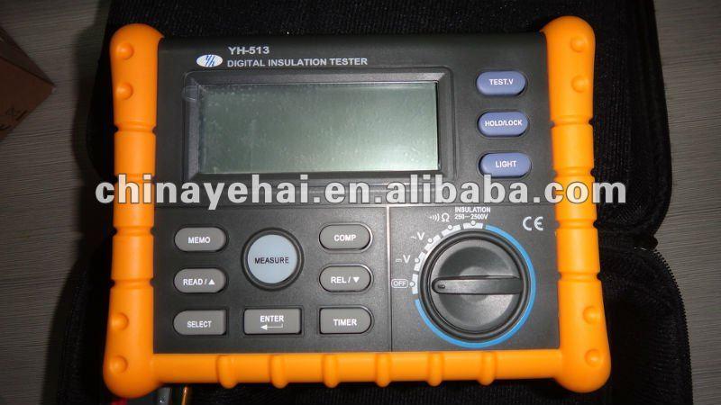max 2500v 10g di tensione digitale resistenza di isolamento megger terra resistenza yh513 tester