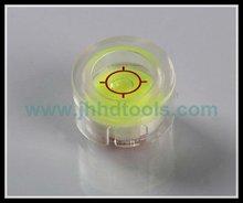 High precision transparent acrylic round level vial,spirit level vial,Washing machine vial