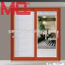 munufacturing wooden color frame aluminum door and window/sliding glass door
