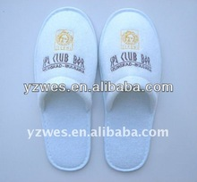 Factory outlets direct supply white close toe velvet comfortable with customized embroidery Buy More Save More ladies' slipper