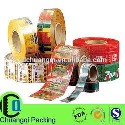 custom printing food lamination plastic roll films