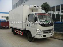 FOTON 4x2 freezer box truck /refrigeration unit truck