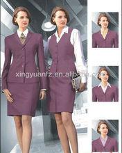 Nova projetos uniformes escritório para a linha aérea Lady mulheres