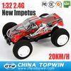 1:32 2.4G high speed New Impetus mini car(SPEC-2304) rc car battery life