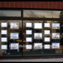 hanging crystal light box led window display real estate window show display