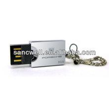 Promotional item yellow rotatable metal USB flash drive 8gb 16gb 32gb 64gb 128gb
