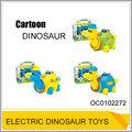 Batería de plástico operado de dibujos animados dinosaurio juguetes con luz de música& oc0102272