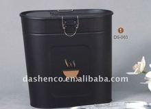 oval metal coal bucket