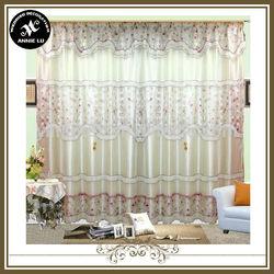 polyester fashionable&fancy jacquard&print satin layer curtain