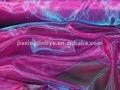 magenta y azul turquesa de alto brillo de dos tonos de tela de organza para la cortina o la toma de vestido