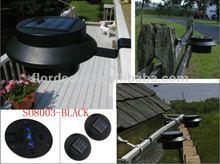 Water-resistant Gutter Solar Light with 3 Brightness LED(SO8003BLACK)
