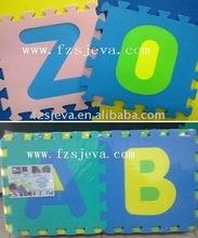 Fabbrica vende eva puzzle tappeto, lettere eva& numeri puzzle stuoia