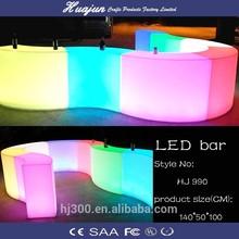 Iluminado led de barras portátil 112*50*106cm, mesa de fiesta para la barra de bar