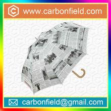 New invention news paper umbrella straight