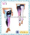 venta al por mayor de encargo de sublimación de la mujer pantalones capri