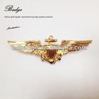 new design factory price gold plated custom metal pilot wings pin badge