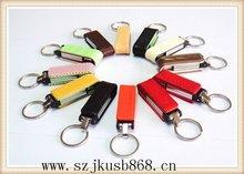 Discount useful orange leather usb stick
